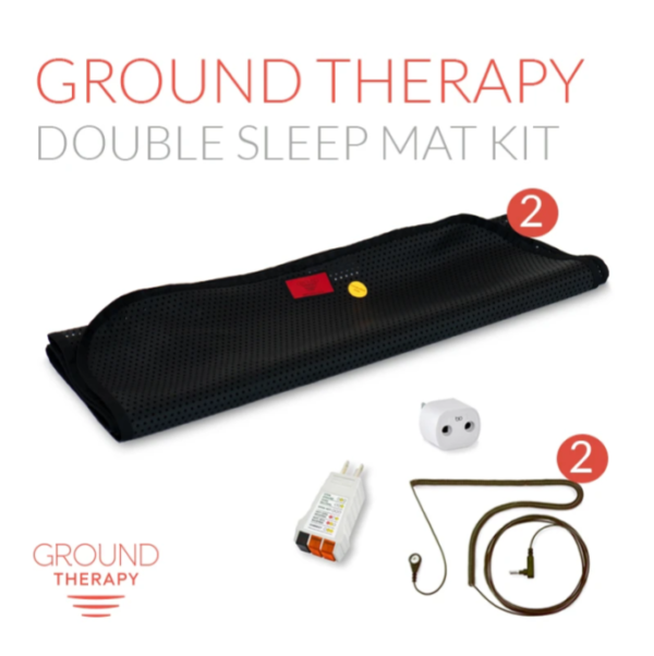 Ground Therapy Double Sleep Mat Kit Black Cord