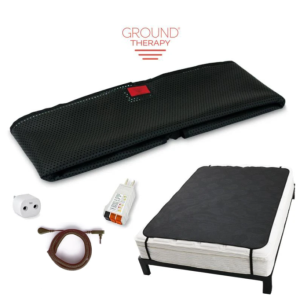 Ground-Therapy-Sleep-Mat-Kit-Large Black Cord